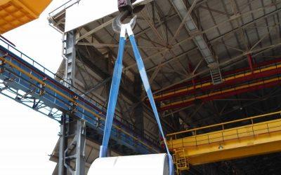 Elevación con fajas de poliéster: seguridad, posición y ángulos de trabajo